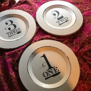 3 Home Decor Plates